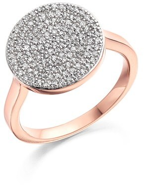 Women's Monica Vinader 'Ava' Diamond Disc Ring $895 thestylecure.com