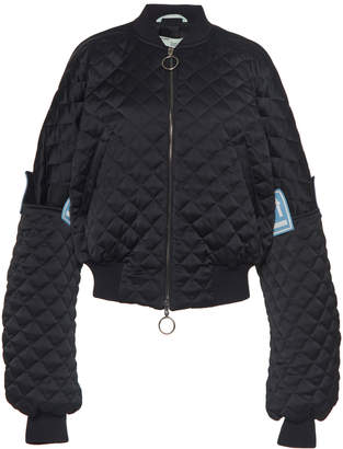 Quilted Oversized Bomber Jacket