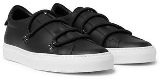 Givenchy Urban Leather Slip-On Sneakers - Black