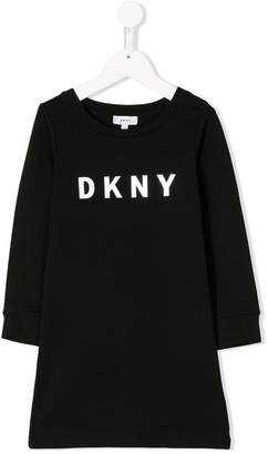DKNY logo print sweater dress