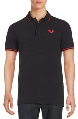 True Religion Signature Print Polo Shirt