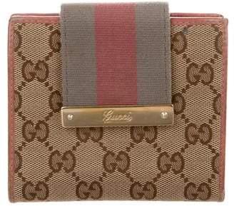 Gucci GG Canvas Web Compact Wallet