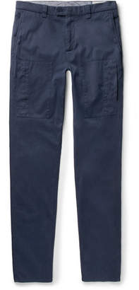 Brunello Cucinelli Slim-fit Garment-dyed Stretch-cotton Twill Trousers