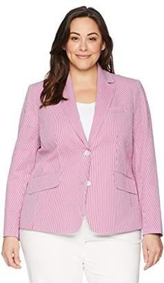 Anne Klein Women's Plus Size Seersucker Jacket
