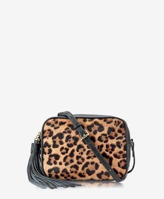 GiGi New York Madison Crossbody In Leopard Haircalf