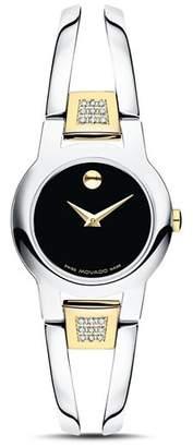 Movado Amorosa Diamond Two-Tone Watch, 24mm