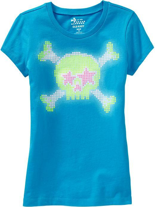 Old Navy Girl Graphic-Crew Tees