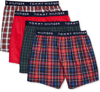 Tommy Hilfiger Men's 4-Pk. Woven Cotton Boxers