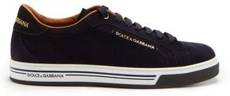 Dolce & Gabbana Low Top Suede Trainers - Mens - Blue