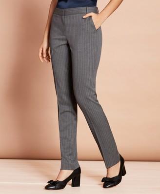 Brooks Brothers Slim-Fit Pinstripe Stretch Wool Pants