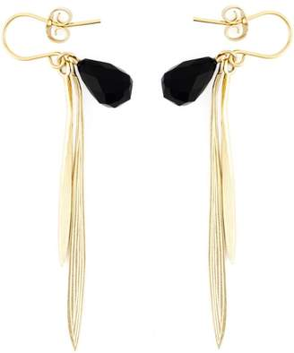 Wouters & Hendrix 'Bamboo' onyx earrings