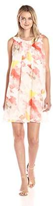 Calvin Klein Women's Pleat Front a-Line Dress
