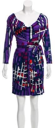 Issa Abstract Print Silk Mini Dress