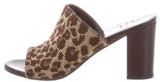 Trademark Knit Pattern Print Mules