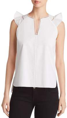 Elie Tahari Lavita Ladder Trim Top