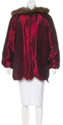 Oscar de la Renta Fur-Trimmed Hooded Coat