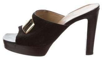 Gucci Square-Toe High-Heel Sandals