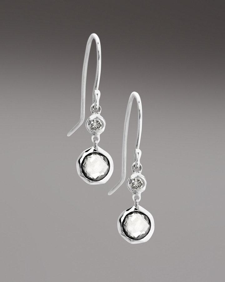 Ippolita Teeny Lollipop Diamond Drop Earrings