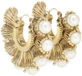 Ellery Nobel pearl hoop earrings