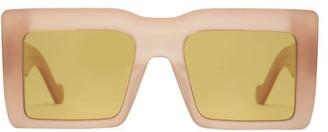 Loewe Square Frame Acetate Sunglasses - Womens - Brown