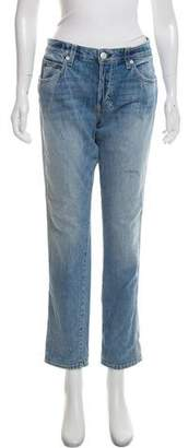 Amo Mid-Rise Straight Jeans
