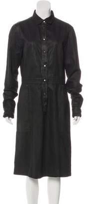 Tomas Maier Denim Button-Up Dress
