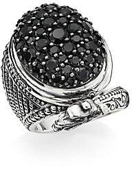 Konstantino Circe Sterling Silver& Black Spinel Dragon Ring