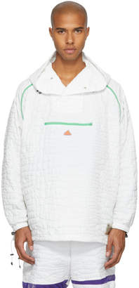 adidas x Kolor White Nylon Embossed Jacket