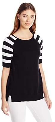 Heather B Women's Lg and Mini Stripe Split Back Hi/Low