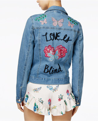 endless rose Cotton Embroidered Denim Jacket $139 thestylecure.com