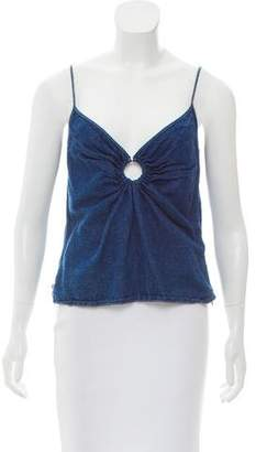Gianfranco Ferre Sleeveless Denim Top w/ Tags