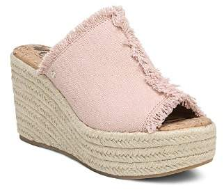 Sam Edelman Women's Dina Fringed Espadrille Wedge Slide Sandals