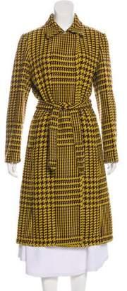 Philosophy di Alberta Ferretti Houndstooth Wool Coat