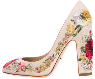Dolce & Gabbana 2015 Embroidered Floral Pumps $715 thestylecure.com