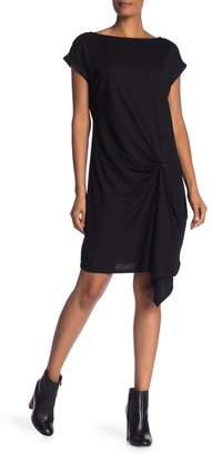 Kenneth Cole New York Gathered Front Metal Pierced Tunic Dress