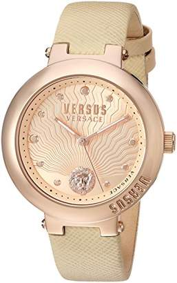 Versus By Versace Women's 'LANTAU Island' Quartz Stainless Steel and Leather Casual Watch