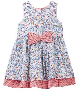 Pippa Pastourelle by and Julie Bike Clip Dot Dress (Toddler & Little Girls)