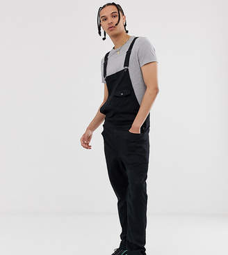 Asos DESIGN TALL Chino Overalls In Black