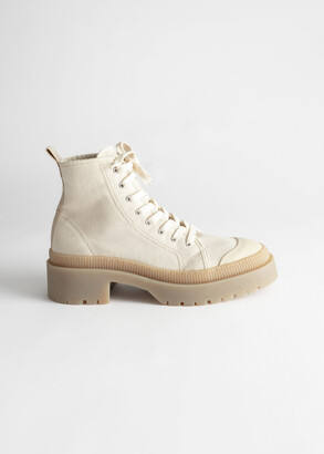 And other stories Canvas Platform Heeled Boots