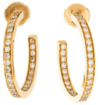 Cartier 18K Diamond Inside-Out Hoops
