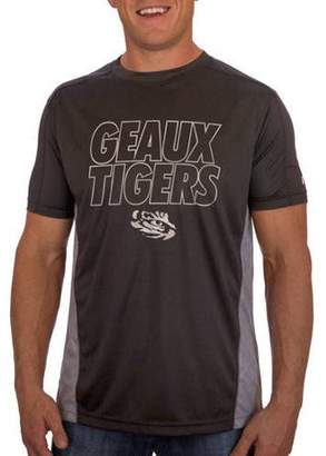 NCAA Russell LSU Tigers Men's Athletic Fit Black / Storm Gray Impact Tee