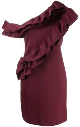 Lanvin ruffled one-sleeve dress