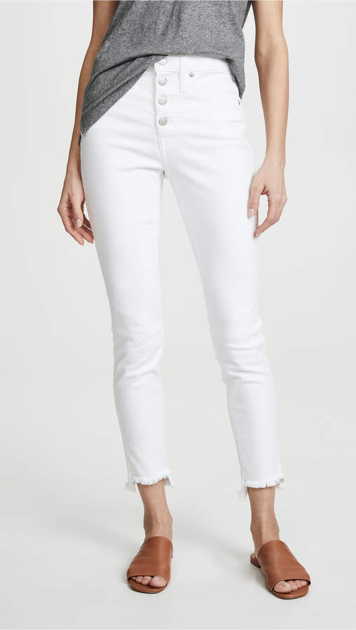 Madewell High Rise Button Front Skinny Jeans