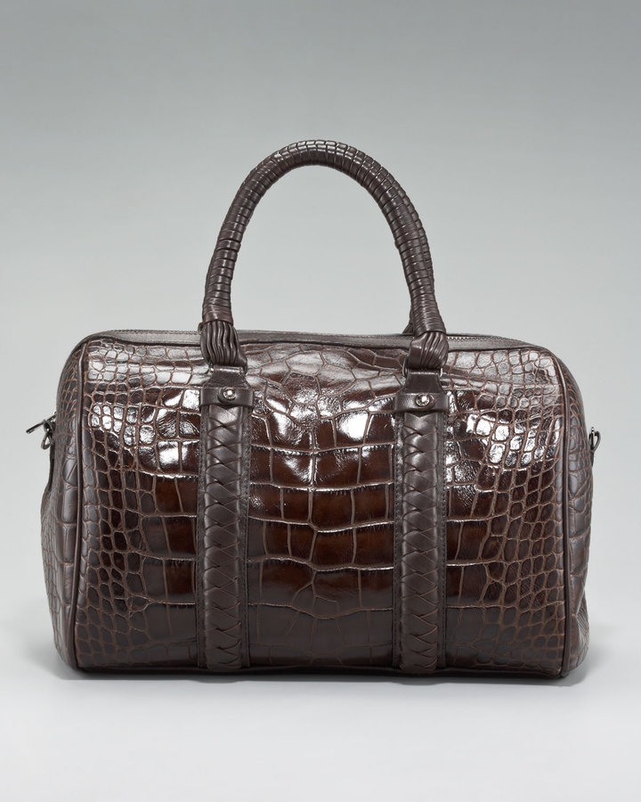 Elie Tahari Natalie Croc-Embossed Bag