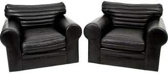 Ralph Lauren Leather Motorcycle Lounge Chairs