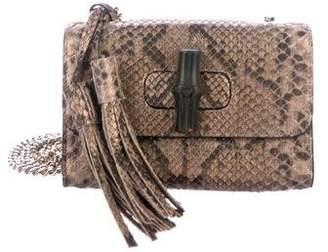 1ae515da75aa Pre-Owned at TheRealReal · Gucci Python Miss Bamboo Shoulder Bag