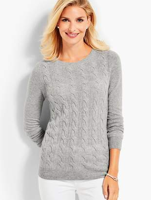 Talbots Cable Cashmere Crewneck Sweater