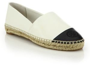 Tory Burch Colorblock Leather Espadrille Flats $195 thestylecure.com