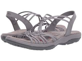 5faca667bb3b Skechers Gray Cushioned Footbed Women s Sandals - ShopStyle