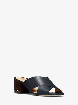 Michael Kors Abbott Leather Sandal